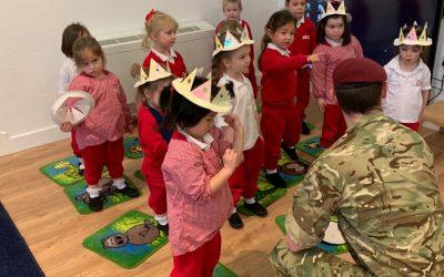 Soldier visits Little Vic